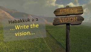 Habakkuk 2:2 Write the Vision
