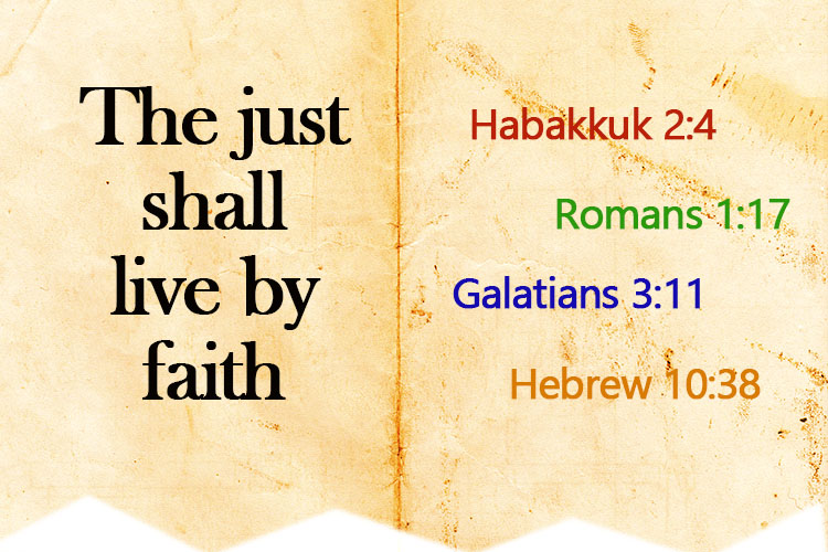 Bible verses with 'the just shall live by faith'