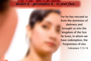 declare the word, personalize , to your face