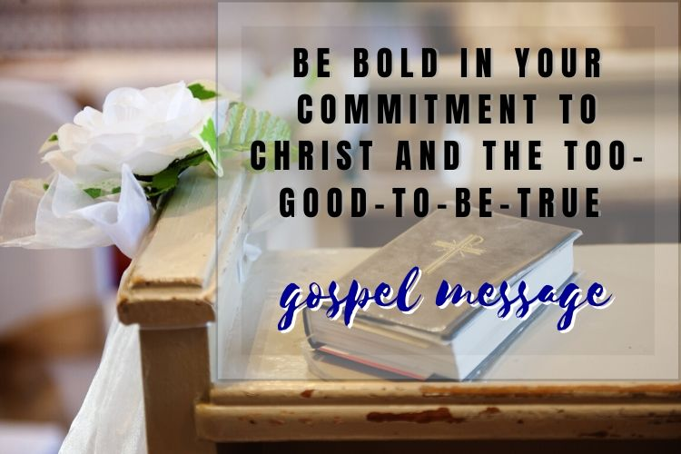 holy bible on pew - commitment to the gospel message