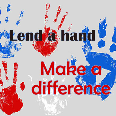 Lend a hand - Make a difference